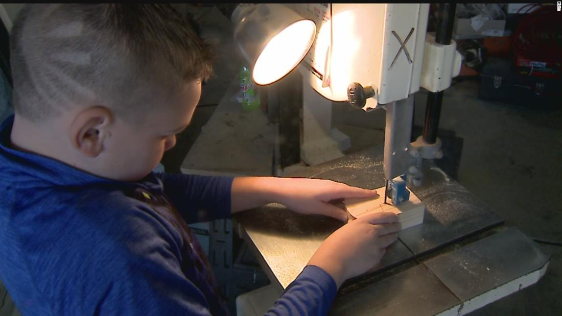 10-year-old builds 250 wooden toys for kids in need