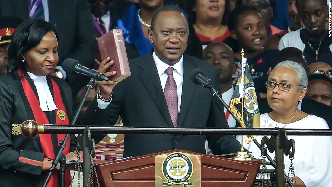 Kenyan President sworn in after controversial election rerun