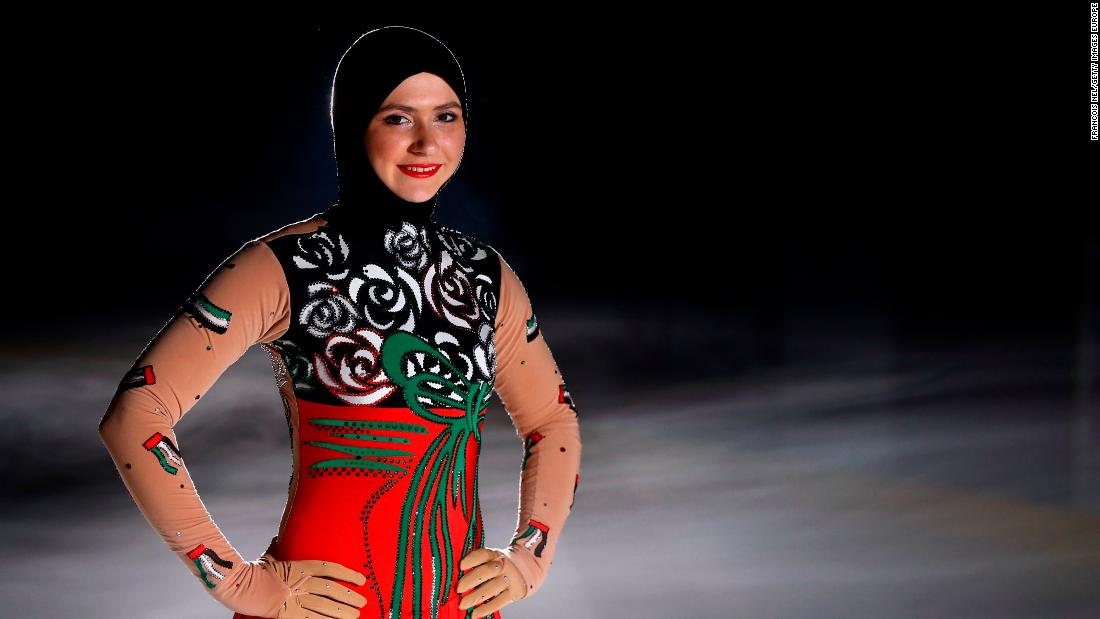 First headscarf-wearing figure skater