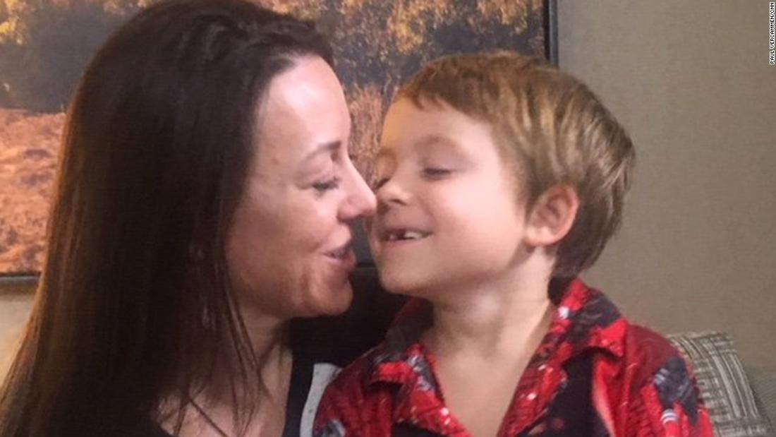 Mom and son scramble 4 times to stay out of fire's path