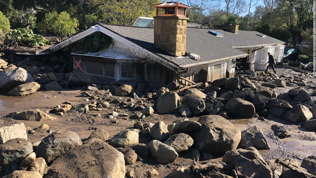 Deadly mudslides in Southern California