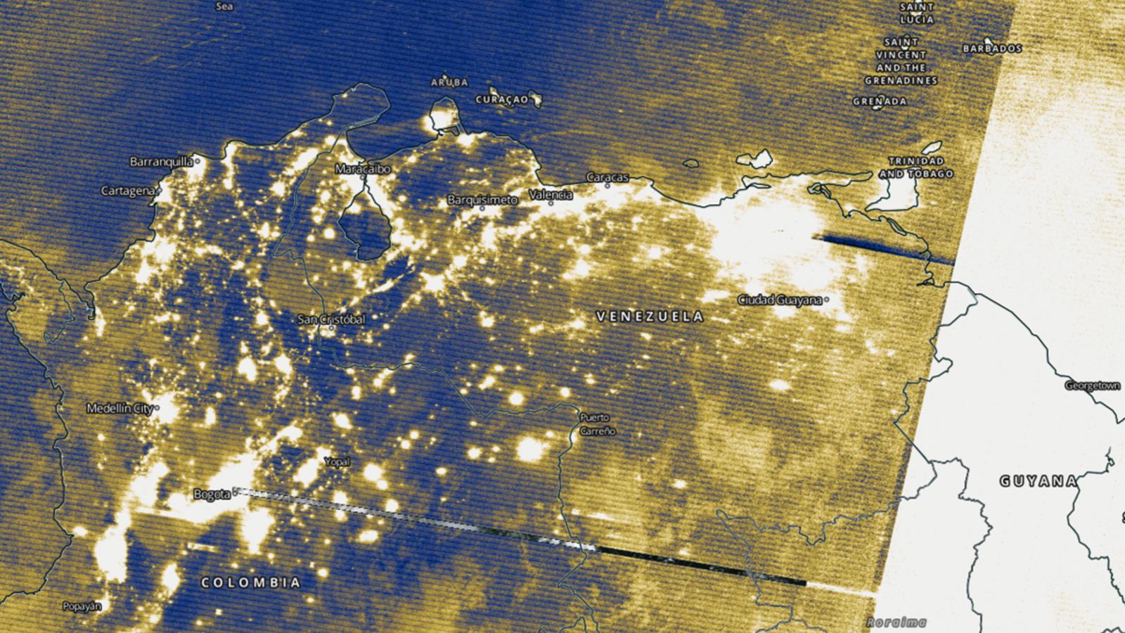 Image of venezuela electricity map before blackout
