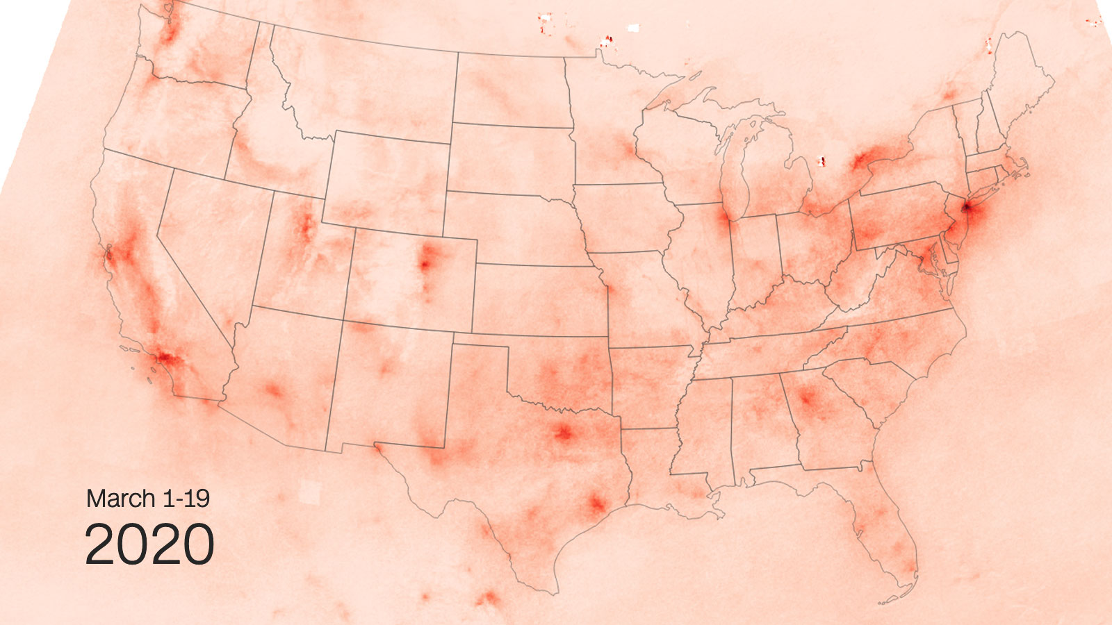 Less Pollution Over The Us As Coronavirus Shuts Down Public Places Satellite Images Show Cnn
