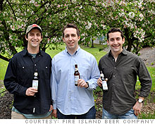 Jeff Glassman (at right) relied on friends and family to raise the $250,000 needed to launch Fire Island Beer.