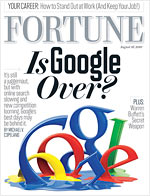 fortune cover google search party is over