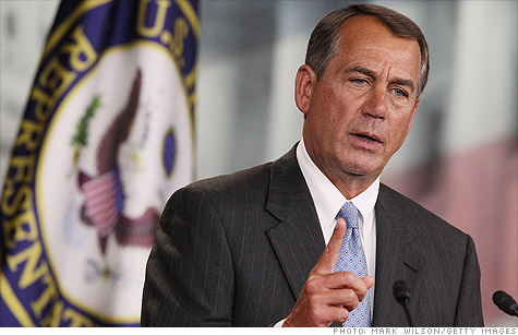 House Speaker John Boehner said on Thursday,