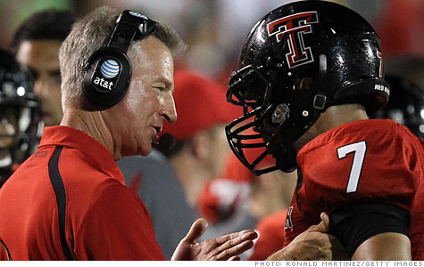 Texas Tech football coach Tommy Tuberville is getting a $500,000 raise despite the school facing funding cuts, sparking criticism from some other faculty.