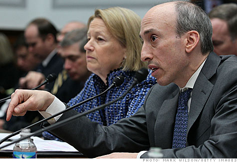 SEC Chairman Mary Schapiro and CFTC Chairman Gary Gensler testify before the House Financial Services Committee.