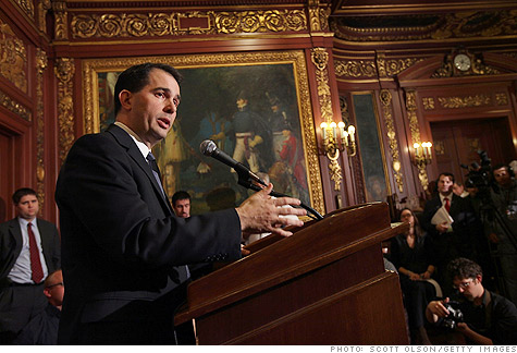 wisconsin, budget, walker, collective bargaining, unions