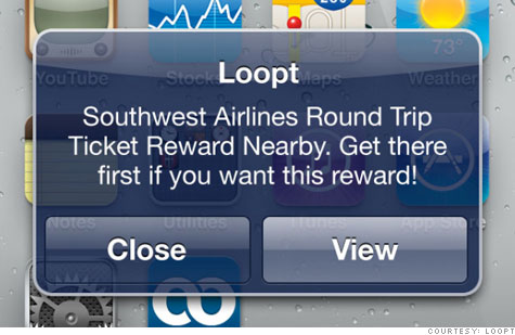 Loopt's Reward Alerts app will let you know when you're close to a deal.