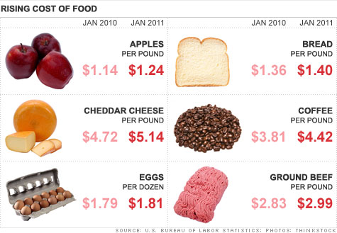 food prices in 2011