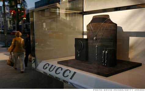 Shoppers are once again showing a preference for high-end brands, like Gucci.
