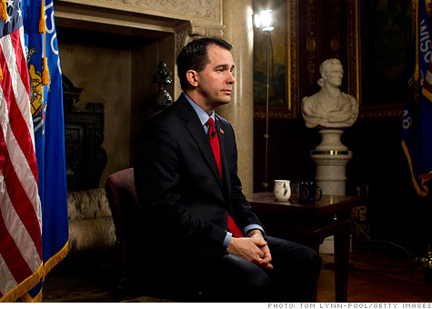 wisconsin, public employees, labor unions, scott walker, governor
