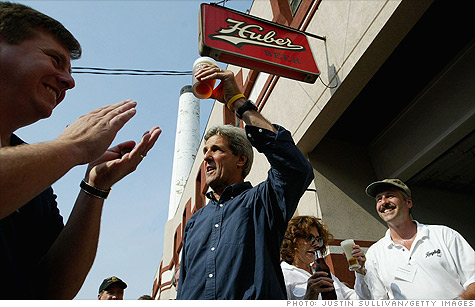 Sen. John Kerry wants to lower excise taxes on small breweries.