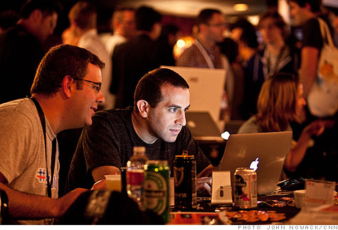 A New York tech gathering at SXSW drew established ventures like Etsy and Foursquare, plus a posse of brand-new startups hoping to follow in their footsteps.
