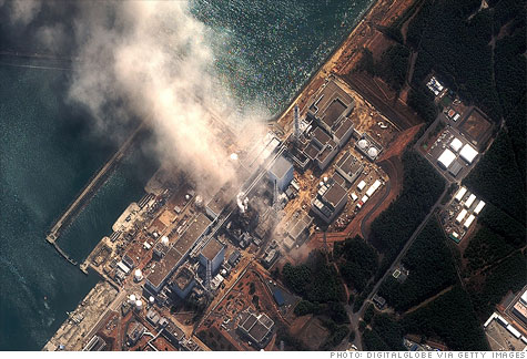 The Fukushima Dai-ichi Nuclear Power plant explosion on Monday in Futaba, Japan.