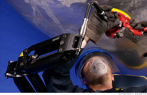 Equipois' zeroG arm helps workers manipulate heavy tools as if they were weightless.