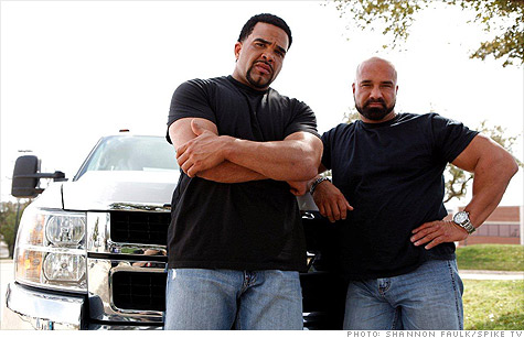 Josh Lewis, left, and Tom DeTone are real-life repo men on Spike TV's 