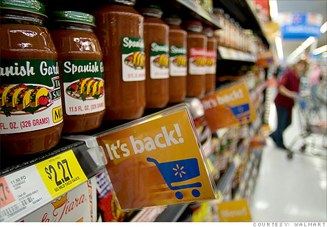 Wal-Mart's bringing back thousands of products - Apr. 11, 2011