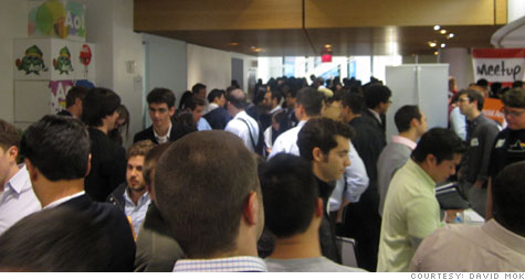 The second annual New York City Startup Job Fair was jam-packed with job seekers and startups looking to hire employees.
