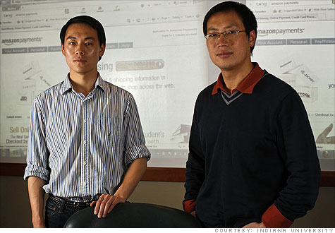 Indiana University doctoral student Rui Wang (left) and associate professor XiaoFeng Wang worked with a team of researchers to expose major security flaws in e-commerce payment systems.