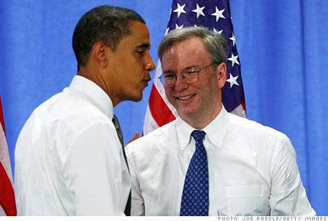 Google, Eric Schmidt, Barack Obama