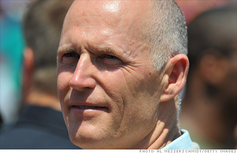 Florida Governor Rick Scott, a Tea Party favorite, couldn't get lawmakers to agree to cut corporate taxes.