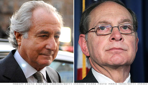 Irving Picard, right, is the trustee in charge of recovering funds lost to the Ponzi scheme of Bernard Madoff.