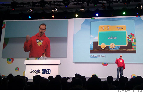 Google and Rovio announced Angry Birds will be available for the first time on the Web via Google's Chrome browser.