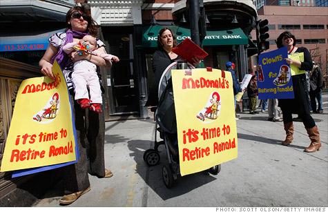 Ronald McDonald protest