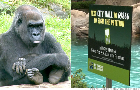 The Bronx Zoo could lose half its city operating support if Mayor Michael Bloomberg's budget cuts go through.
