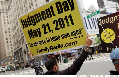 end of the world, may 21, harold camping, judgment day, rapture, times square, religion, family radio