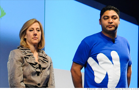 Former PayPal employees Stephanie Tilenius and Osama Bedier, seen here at this week's Google Wallet launch, are at the center of a lawsuit alleging trade-secret theft.