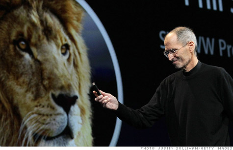 Steve Jobs started Apple's keynote by talking about the Lion OS X update, but is building to an iCloud announcement.