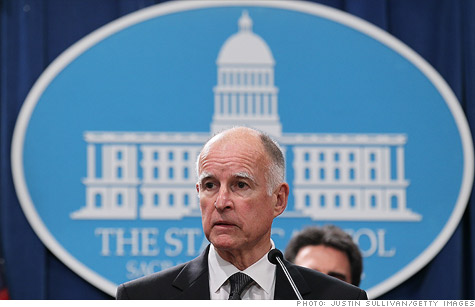 California Governor Jerry Brown vetoes the budget passed by lawmakers.