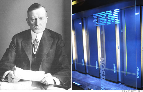 From Thomas Watson Sr. to Watson the Jeopardy! playing computer, IBM has had quite a century.