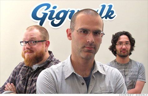 Gigwalk founders (from left) Matt Crampton, Ariel Seidman and David Watanabe.