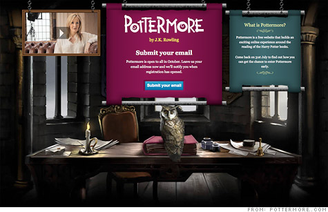 Rowling to release Harry Potter e-books via Pottermore site