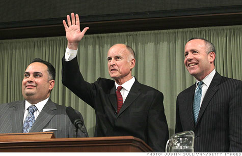 California Governor Jerry Brown and Democratic lawmakers unveil a new budget plan.