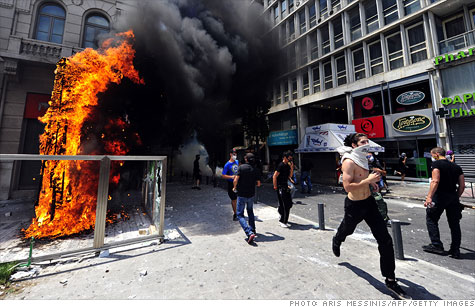Austerity sparks riots in Athens