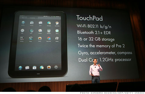 The TouchPad's release date is July 1, and it starts at the same price as the iPad.