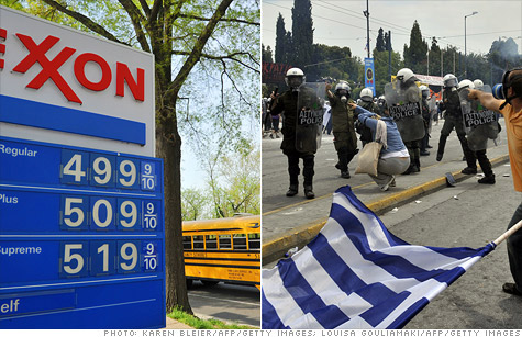 A European debt default in a country like Greece or a new oil price spike are the biggest risks to the U.S. economy, according to economists.
