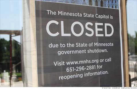 Fitch downgraded Minnesota because of its government shutdown over a budget impasse.