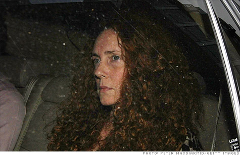 Rebekah Brooks, former editor of News of the World, was arrested, then released, as London police investigate a phone hacking scandal.