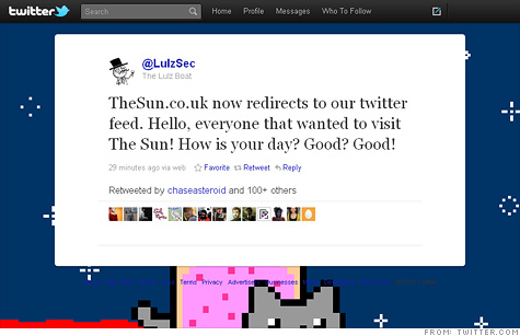 Murdoch's Sun newspaper hacked by LulzSec