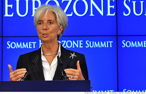 Christine Lagarde, director of the IMF, urged the U.S. government to