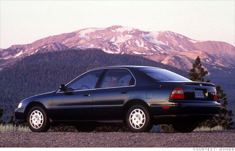 The 1994 Honda Accord is tops with car thieves because its parts are popular with street racers.