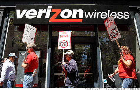 Verizon said that 45,000 picketing union members could lose their medical benefits by the end of the month.