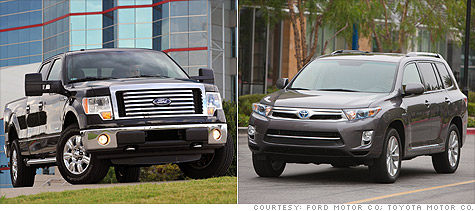 Ford and Toyota say they will join to work an a new hybrid system to be used to produce pickups and SUVs.