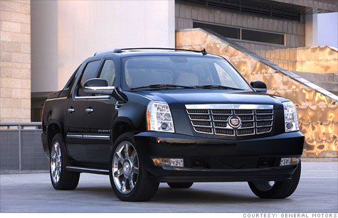 Four different versions of the Cadillac Escalade topped the Highway Loss Data Institute's rankings for theft claim frequency. Highest of all was the EXT, which has a pickup bed in the back.